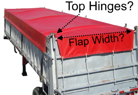 Side Roll Tarp With Tail Flap for End Dump Trailer Bed