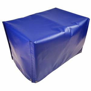 Lookout Mountain Tarp - Custom 4-Sided Box Shaped Tarp Cover with Tail Flap - 18oz Vinyl Coated Polyester