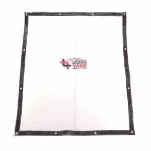 Lookout Mountain Tarp - Custom Clear Window Tarp With Grommets for Porch Patio Deck - 30 Gauge Double Polished Clear Vinyl