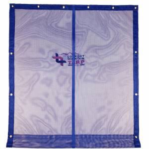 Lookout Mountain Tarp - Custom Size Industrial Curtain constructed using 11oz Vinyl Coated Mesh 55% Solid