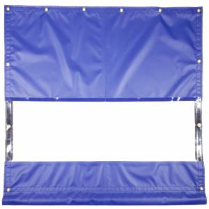 "Lookout Mountain Tarp - Custom Industrial Curtain Divider Tarp Cover - 18oz Vinyl with 52"" Clear Window"