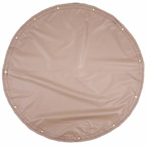 Lookout Mountain Tarp - Custom Round Shaped Tarp Cover - 13oz Solid Vinyl Laminated Polyester
