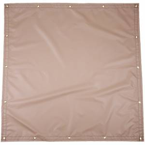 Lookout Mountain Tarp - Custom Square Shaped Tarp Cover - 13oz Solid Vinyl Laminated Polyester