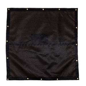 Lookout Mountain Tarp - Custom Square Shaped Tarp Cover - 9.5oz Knitted Mesh 95% Solid