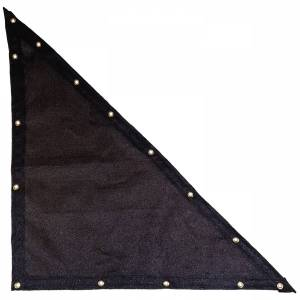Lookout Mountain Tarp - Custom Right Triangle Shaped Tarp Cover - 9.5oz Knitted Mesh 95% Solid