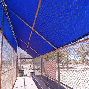Lookout Mountain Tarp - Custom Shade Tarp Cover to fit Chain Link Dugout Wall or Roof