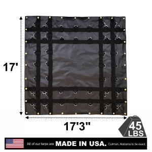 Lookout Mountain Tarp - 17' x 17' Square Coil Tarp with D-Rings for Flatbed Truck and Trailer
