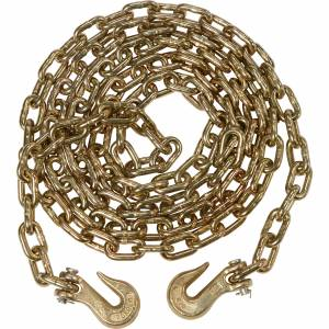 "Ancra - 45881-11-20 Ancra G70 3/8"" X 20' Chain with Clevis Hooks - 1 Chain"