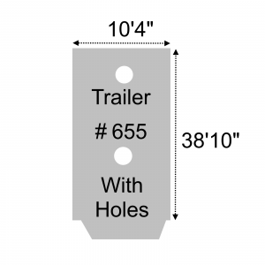 "Lookout Mountain Tarp - ACT655-22-GRY - Trailer # 655 - 10'4"" x 38'10"" Roll Tarp Grey - 22oz Vinyl Coated Polyester"