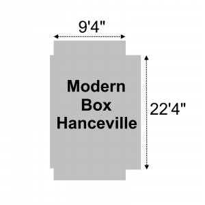 "Lookout Mountain Tarp - ACTModernHanceville-22-GRY - Modern Box - 9'4"" x 22'4"" Roll Tarp Grey - 22oz Vinyl Coated Polyester"