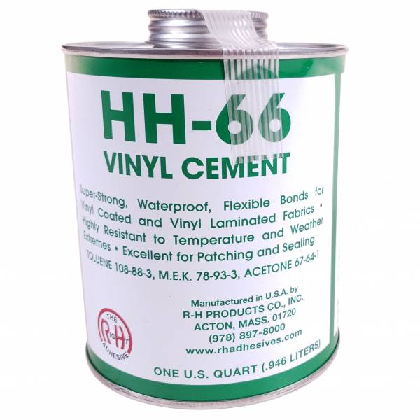 TriVantage - 212502 HH-66 Vinyl Cement Glue - 1 Quart / 32oz Brush Top Can