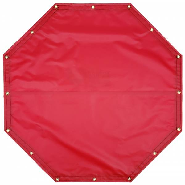 Custom Octagon Shaped Tarp Cover - 18oz Solid Vinyl Coated Polyester