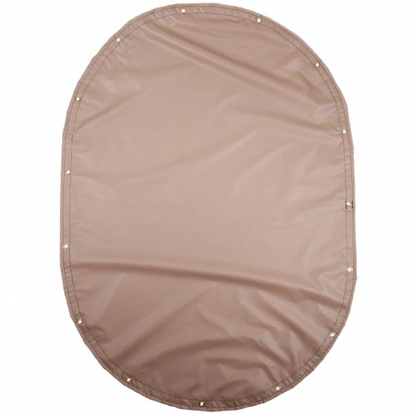 Custom Oval Shaped Tarp Cover - 13oz Solid Vinyl Laminated Polyester