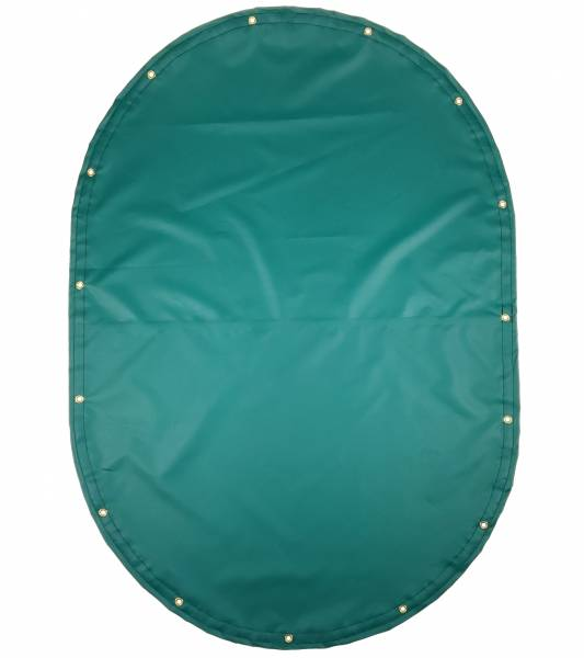 Custom Oval Shaped Tarp Cover - 14oz Solid Vinyl Coated Polyester