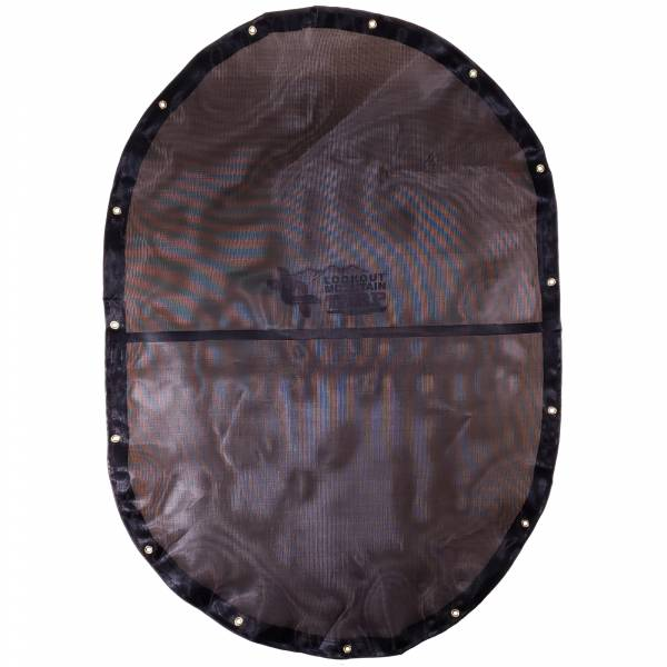 Custom Oval Shaped Tarp Cover - 7.5oz Closed Mesh 95% Solid Black