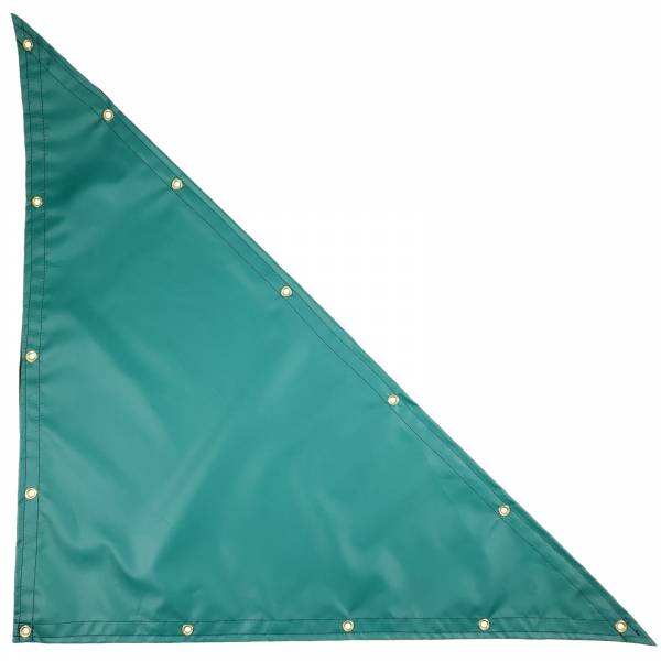 Custom Right Triangle Shaped Tarp Cover - 14oz Solid Vinyl Coated Polyester