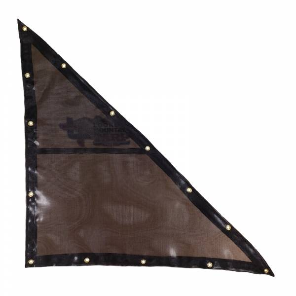 Custom Right Triangle Shaped Tarp Cover - 7.5oz Closed Mesh 95% Solid Black