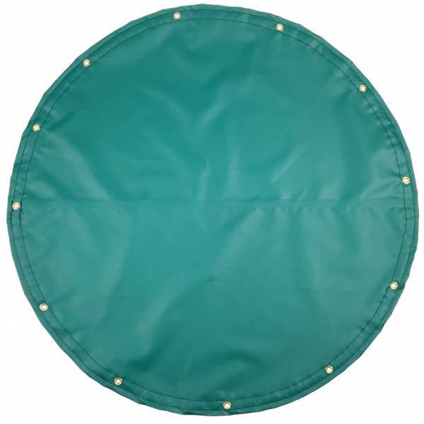 Custom Round Shaped Tarp Cover - 14oz Solid Vinyl Coated Polyester