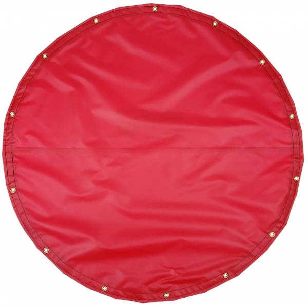 Custom Round Shaped Tarp Cover - 18oz Solid Vinyl Coated Polyester