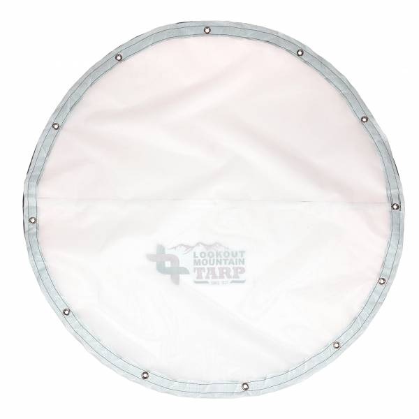 Custom Round Shaped Tarp Cover - 9oz Vinyl Coated Mesh 80% Solid