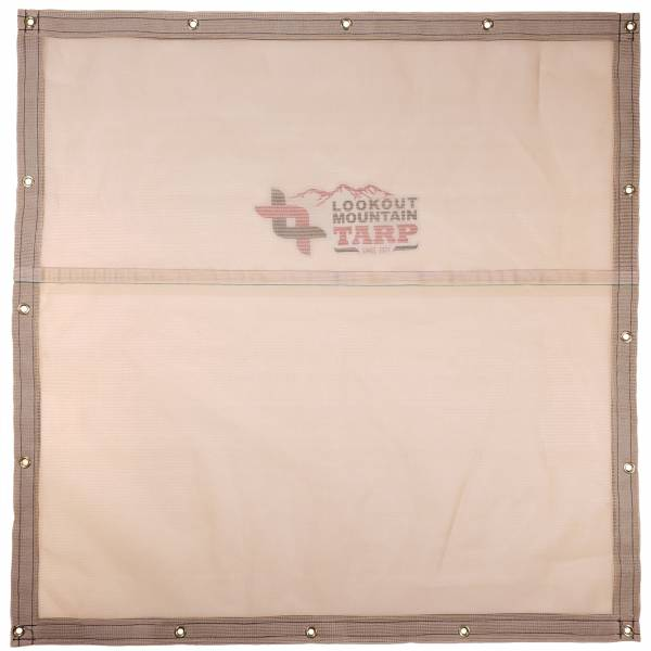 Custom Square Shaped Tarp Cover - 8.25oz Knitted Mesh 70% Solid