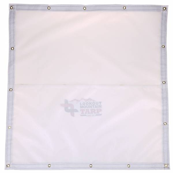 Custom Square Shaped Tarp Cover - 9oz Vinyl Coated Mesh 80% Solid