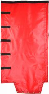 18oz-solid-vinyl-roll-tarp-with-flap-for-end-dump-trailer-top-view