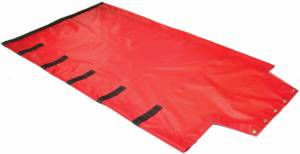 18oz-solid-vinyl-roll-tarp-with-flap-for-end-dump-trailer-end-view