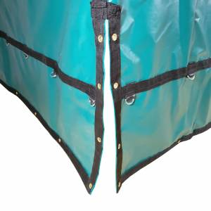 Coil-Bag-Truck-Tarp-with-Chain-Flaps-flaps