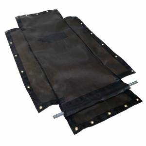 75oz-mesh-flip-tarp-with-flaps-for-dump-truck-bed-trailer-side-view-pipe