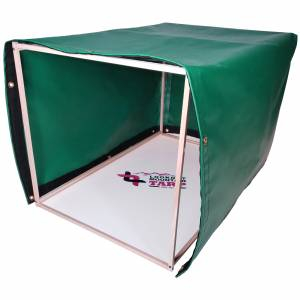 Custom 4-Sided Box Shaped Tarp Cover - 18oz Vinyl Coated Polyester