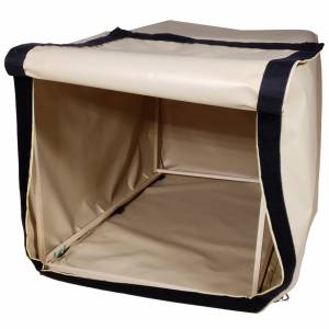 Custom 6-Sided Box Shaped Tarp Cover with Opening - 18oz Vinyl Coated Polyester