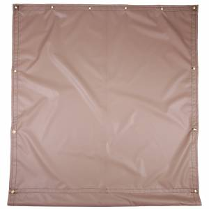 Custom Industrial Curtain Divider Tarp Cover - 13oz Solid Vinyl Laminated Polyester