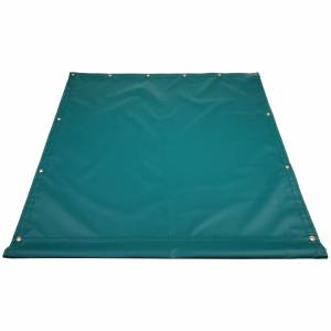 Custom Industrial Curtain Divider Tarp Cover - 14oz Solid Vinyl Coated Polyester