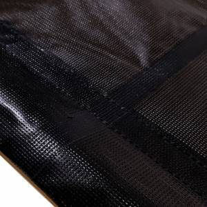 Custom Industrial Curtain Divider Tarp Cover - 9oz Vinyl Coated Mesh 80% Solid