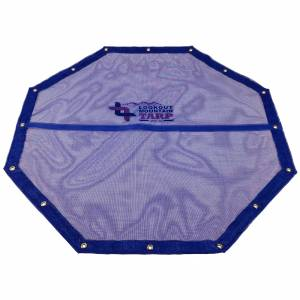 Custom Octagon Shaped Tarp Cover - 11oz Vinyl Coated Mesh 55% Solid