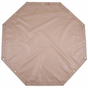 Custom Octagon Shaped Tarp Cover - 13oz Solid Vinyl Laminated Polyester
