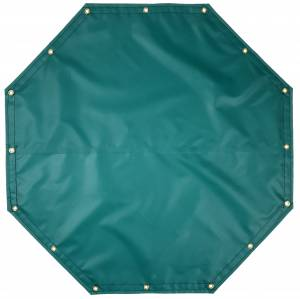 Custom Octagon Shaped Tarp Cover - 14oz Solid Vinyl Coated Polyester
