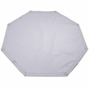 Custom Octagon Shaped Tarp Cover - 22oz Solid Vinyl Coated Polyester