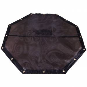 Custom Octagon Shaped Tarp Cover - 7.5oz Closed Mesh 95% Solid Black