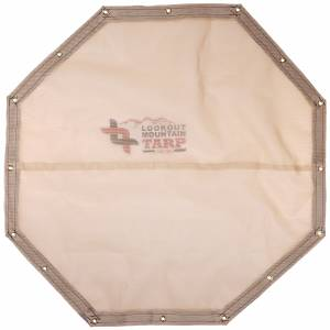 Custom Octagon Shaped Tarp Cover - 8.25oz Knitted Mesh 70% Solid