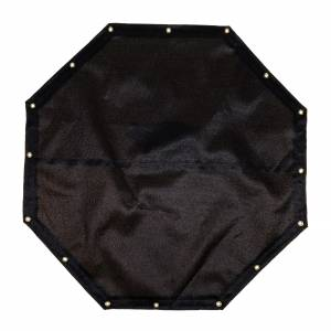 Custom Octagon Shaped Tarp Cover - 9.5oz Knitted Mesh 95% Solid