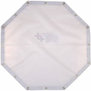 Custom Octagon Shaped Tarp Cover - 9oz Vinyl Coated Mesh 80% Solid