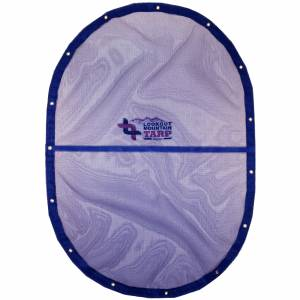 Custom Oval Shaped Tarp Cover - 11oz Vinyl Coated Mesh 55% Solid