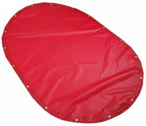Custom Oval Shaped Tarp Cover - 18oz Solid Vinyl Coated Polyester