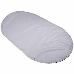 Custom Oval Shaped Tarp Cover - 22oz Solid Vinyl Coated Polyester