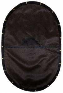 Custom Oval Shaped Tarp Cover - 9.5oz Knitted Mesh 95% Solid