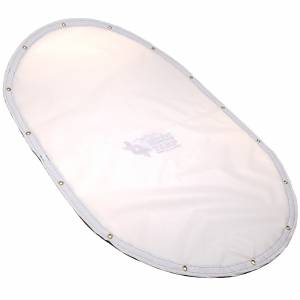 Custom Oval Shaped Tarp Cover - 9oz Vinyl Coated Mesh 80% Solid