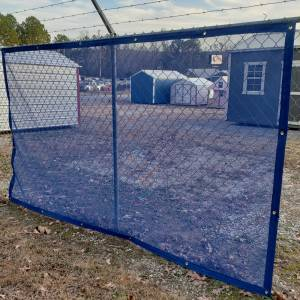 Custom Privacy Screen Fence Windscreen Tarp Cover - 11oz Vinyl Coated Mesh 55% Solid
