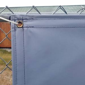 Custom Privacy Screen Fence Windscreen Tarp Cover - 13oz Vinyl Laminated Polyester 100% Solid